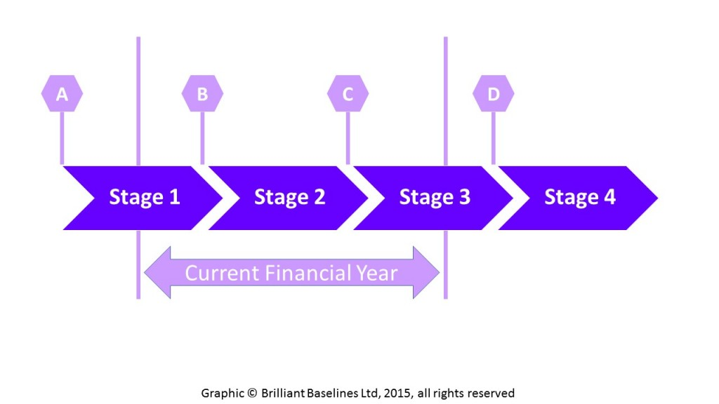 Figure 1: Financial year vs. project budgeting