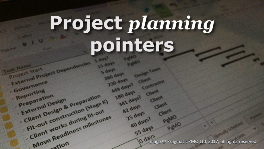 Project Planning Pointers