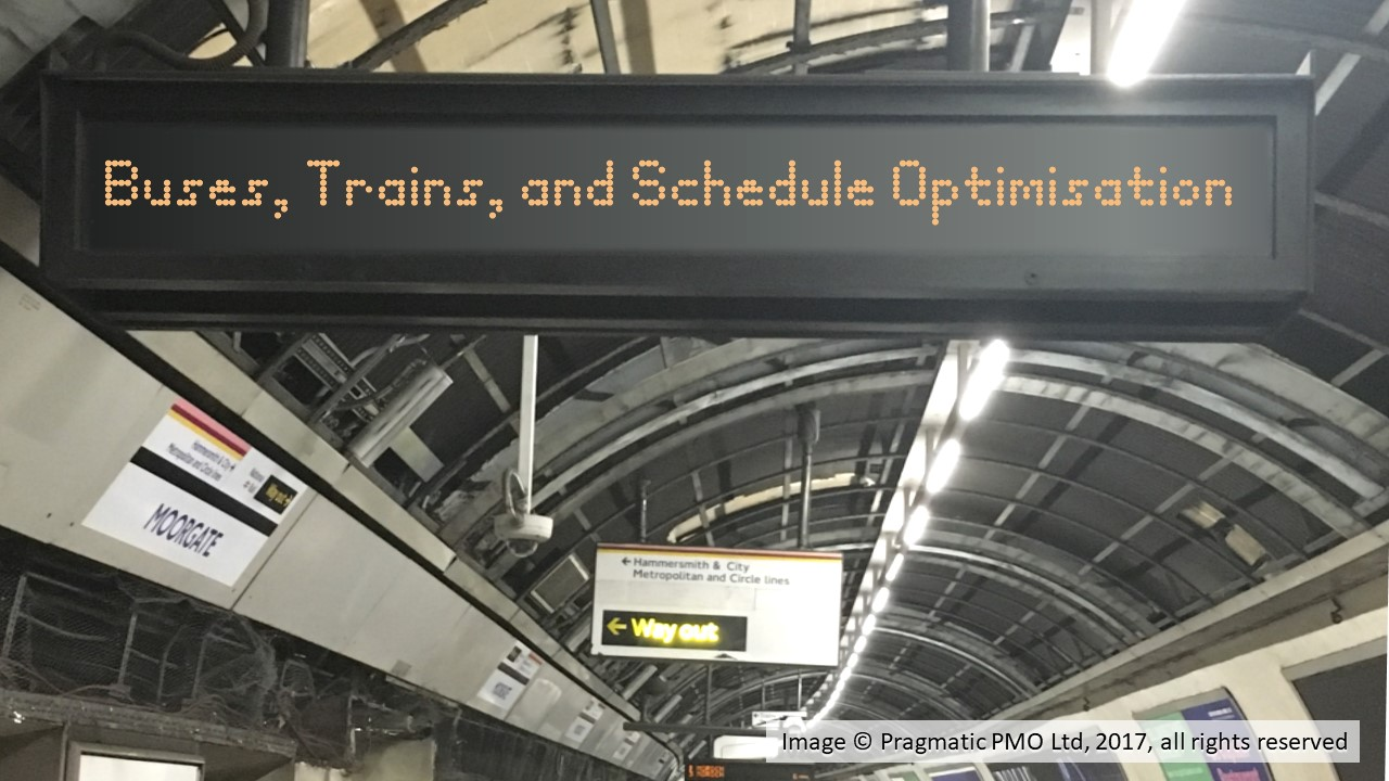 Buses Trains and Schedule Optmisation