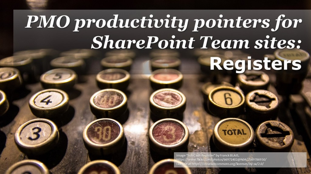 SharePoint tips - Registers